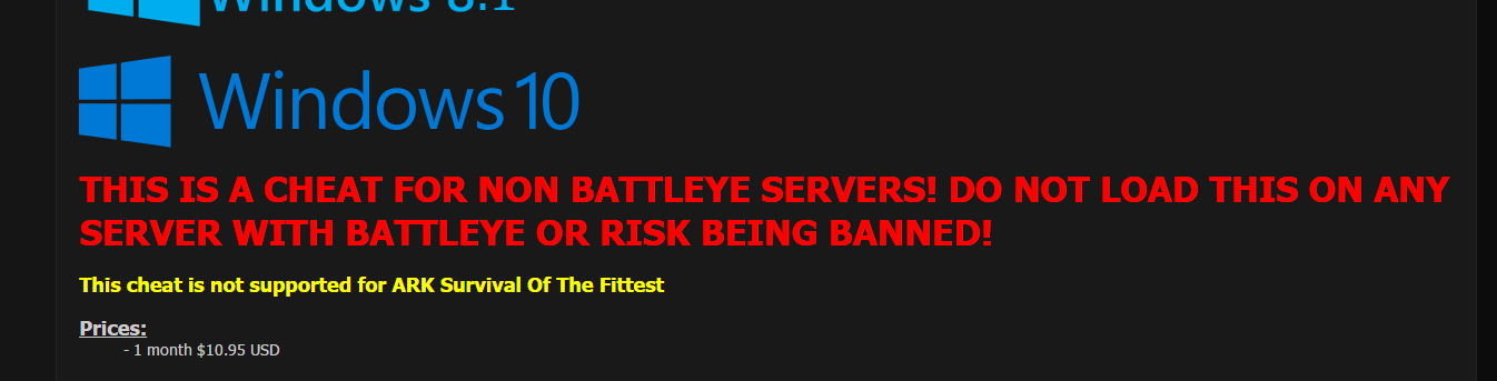 Ark Survival Evolved - Non-BattleEye Cheat [SOTF Not Supported but